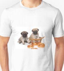 Funny cute pug puppies Unisex T-Shirt