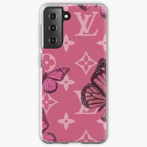 Pink designer butterfly phonecase Samsung Galaxy Soft Case