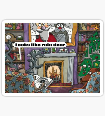 Looks Like Rain Dear Sticker