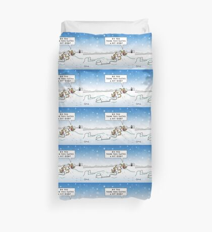 An Ood in Winter Duvet Cover