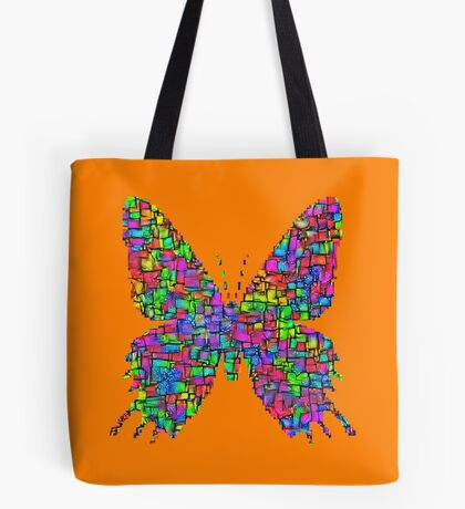 Artificial neural style Simplex pixel Papilio Gloria butterfly Tote Bag