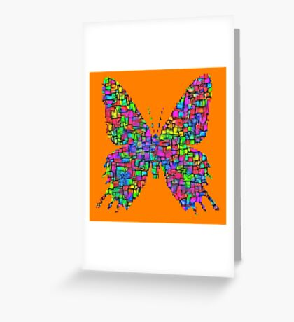 Artificial neural style Simplex pixel Papilio Gloria butterfly Greeting Card