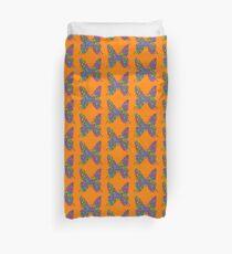 Artificial neural style Simplex pixel Papilio Gloria butterfly Duvet Cover