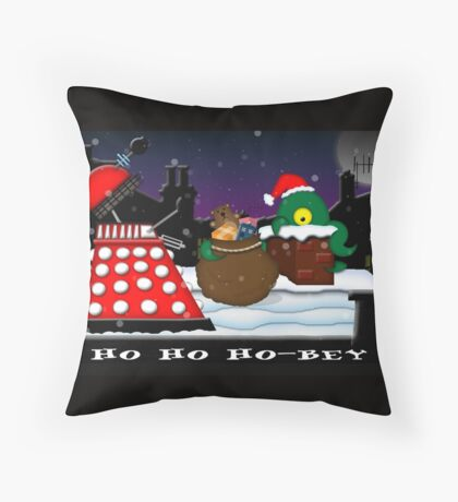 Ho ho ho-bey! Throw Pillow