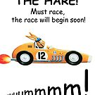 THE HARE!  Must race,  the race will begin soon! by Sunil Bhardwaj