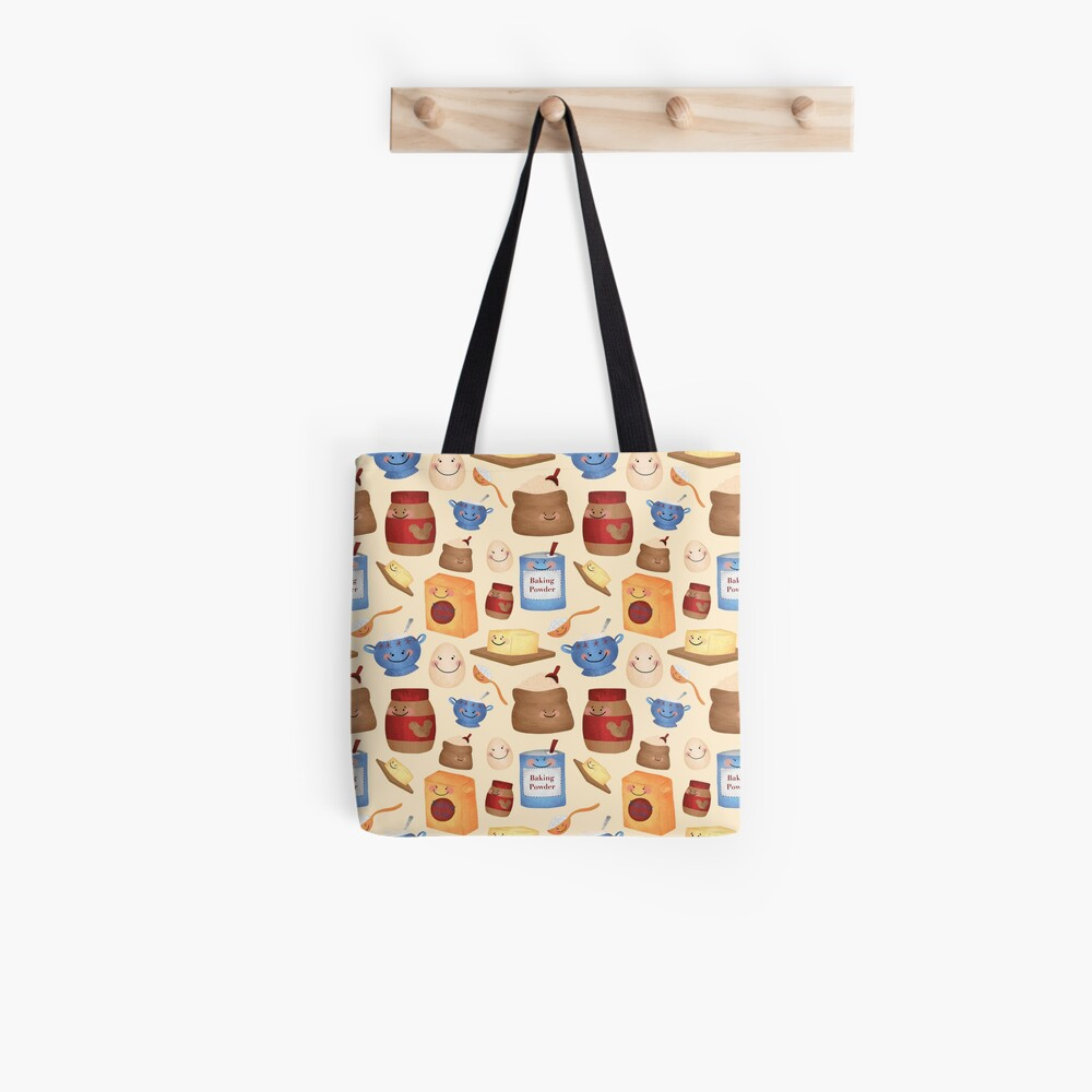 Deconstructed Peanut Butter Cookie Pattern Tote Bag