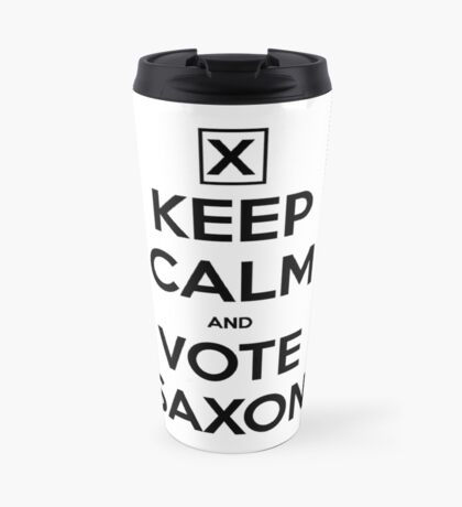Vote Saxon - White Travel Mug