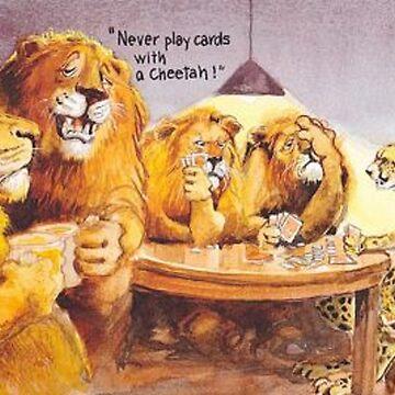 animals playing poker by StonyBE