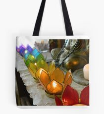 Rainbow Candle Holders Tote Bag