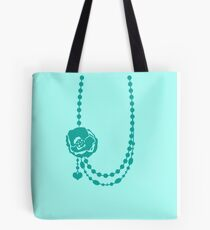 Pretty rose flower necklace with beading Tote Bag