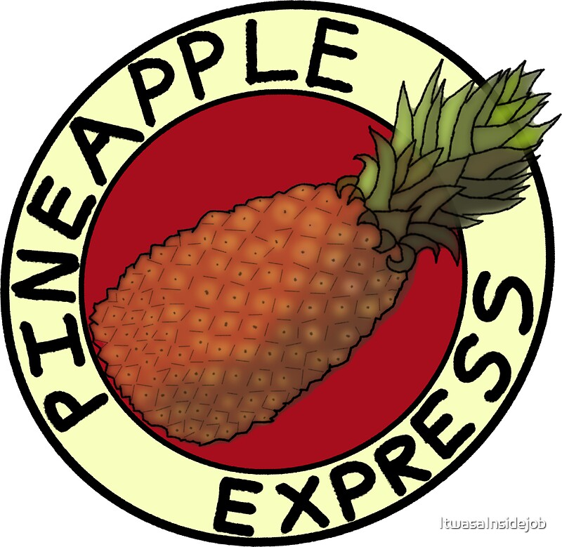 pineapple express stickers by itwasainsidejob redbubble. Black Bedroom Furniture Sets. Home Design Ideas