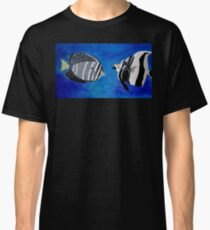 Ocean Fishes Acrylic Painting Classic T-Shirt