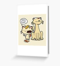 Number 52 and 53 Greeting Card