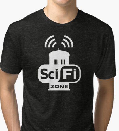 Sci-Fi ZONE White Tri-blend T-Shirt