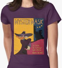 Myster Mask (Darkwing Duck) Women's Fitted T-Shirt