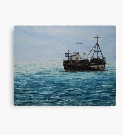 Blue Seascape (Oil Painting) Canvas Print