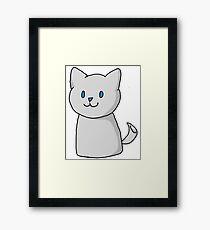 Marshmallow Kitty Framed Print