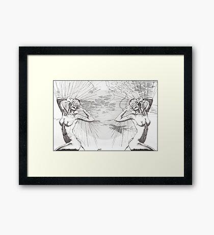 Hide&Seek/ Print by Amit Grubstein Framed Print
