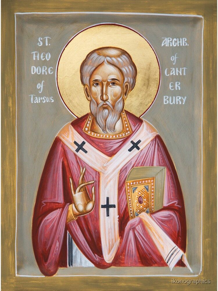St Theodore of Tarsus Archbishop of Canterbury by ikonographics