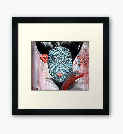 Snake Woman/ ORIGINAL PAINTING by Amit Grubstein Framed Print