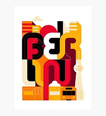 Berlin Typo Photographic Print