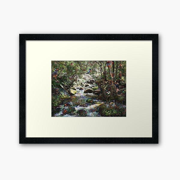 Primordial Brook Framed Art Print