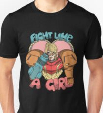 Fight Like A Girl - Samus Aran (Metroit) Unisex T-Shirt