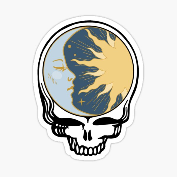 Grateful Dead Skull sticker Sticker