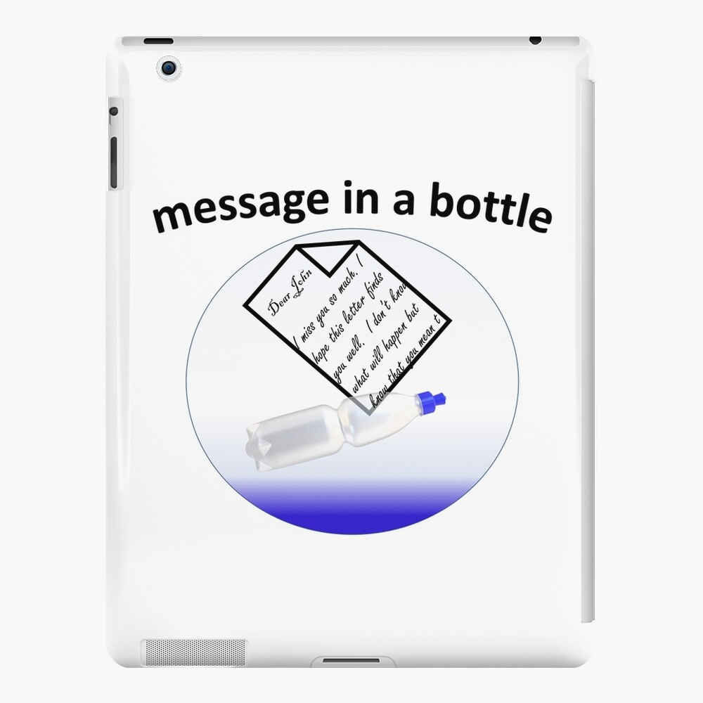 Romantic Message in a bottle with written letter iPad Case & Skin