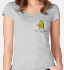 Lets Avocuddle! Women's Fitted Scoop T-Shirt