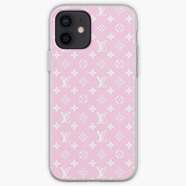 Pink Louis V Design iPhone Soft Case
