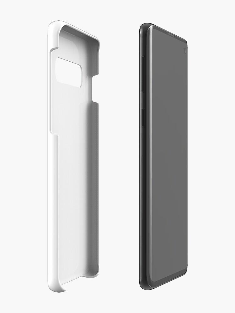 Alternate view of 8-bit Simplex pixel Black butterfly Case & Skin for Samsung Galaxy