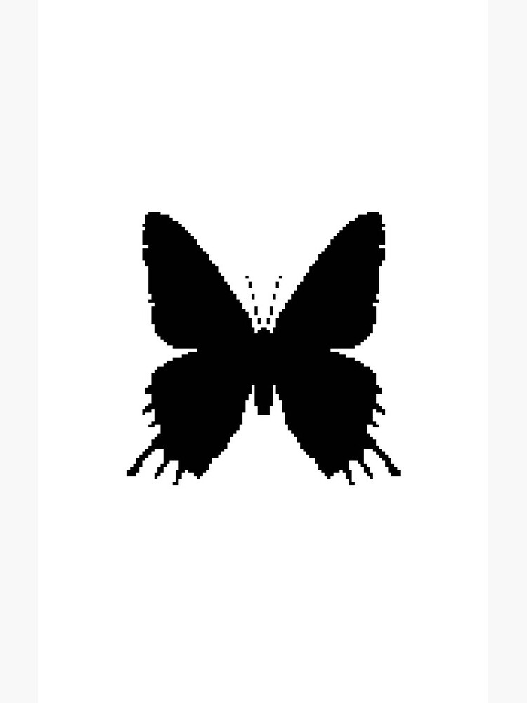 8-bit Simplex pixel Black butterfly by blackhalt