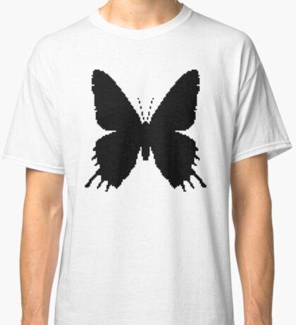 8-bit Simplex pixel Black butterfly Classic T-Shirt