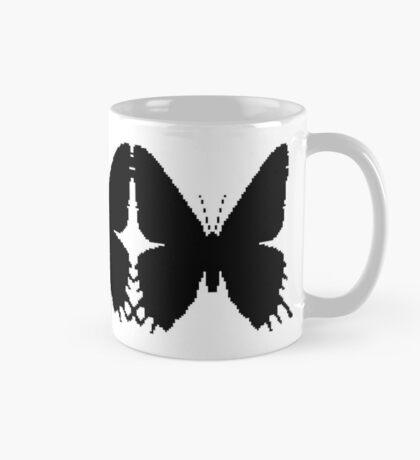 8-bit Simplex pixel Black butterfly Mug