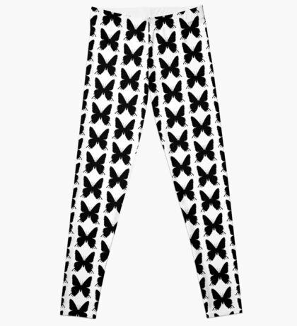 8-bit Simplex pixel Black butterfly Leggings
