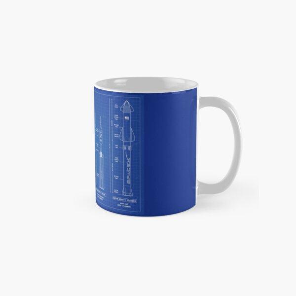 SPACEX Rockets (Blueprint) Classic Mug