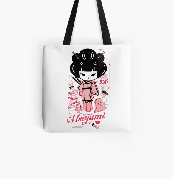 Mayumi in 2D All Over Print Tote Bag