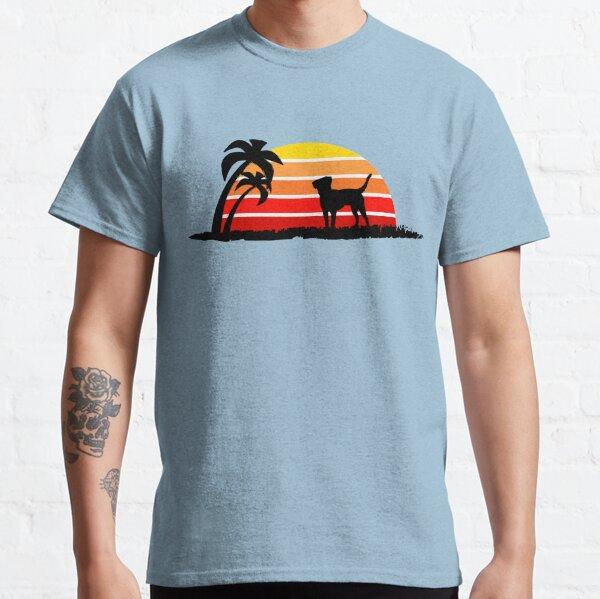 Labrador Retriever on Sunset Beach Classic T-Shirt