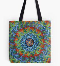 Tsunami Mandala (with background) Tote Bag