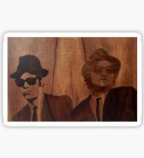 Blues Brothers marquetry of wood Sticker
