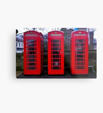 Telephone Box Metal Print