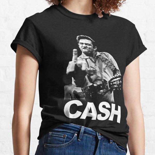 Verkauf von Johnny Cash mit seiner Gitarre und seinem Mittelfinger Classic T-Shirt