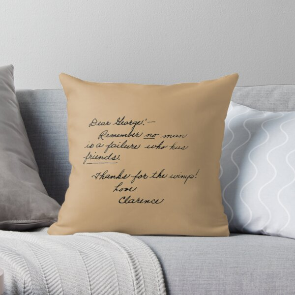It's A Wonderful Life Movie Quote about Friends Throw Pillow