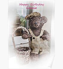 Happy Birthday Gracie Poster