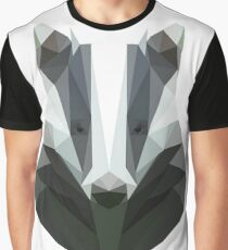 Low Poly Honey Badger Graphic T-Shirt