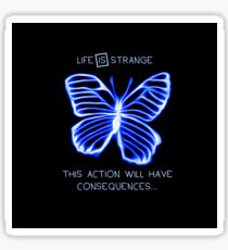 Life Is Strange - Butterfly Effect - Consequences - Vibrant Blue Sticker