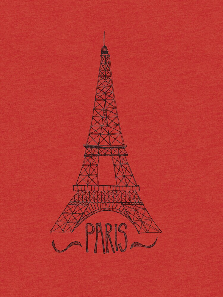 eiffel tower on pink by swoldham