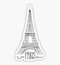 Eiffel tower drawing stickers redbubble eiffel tower on pink sticker altavistaventures Choice Image