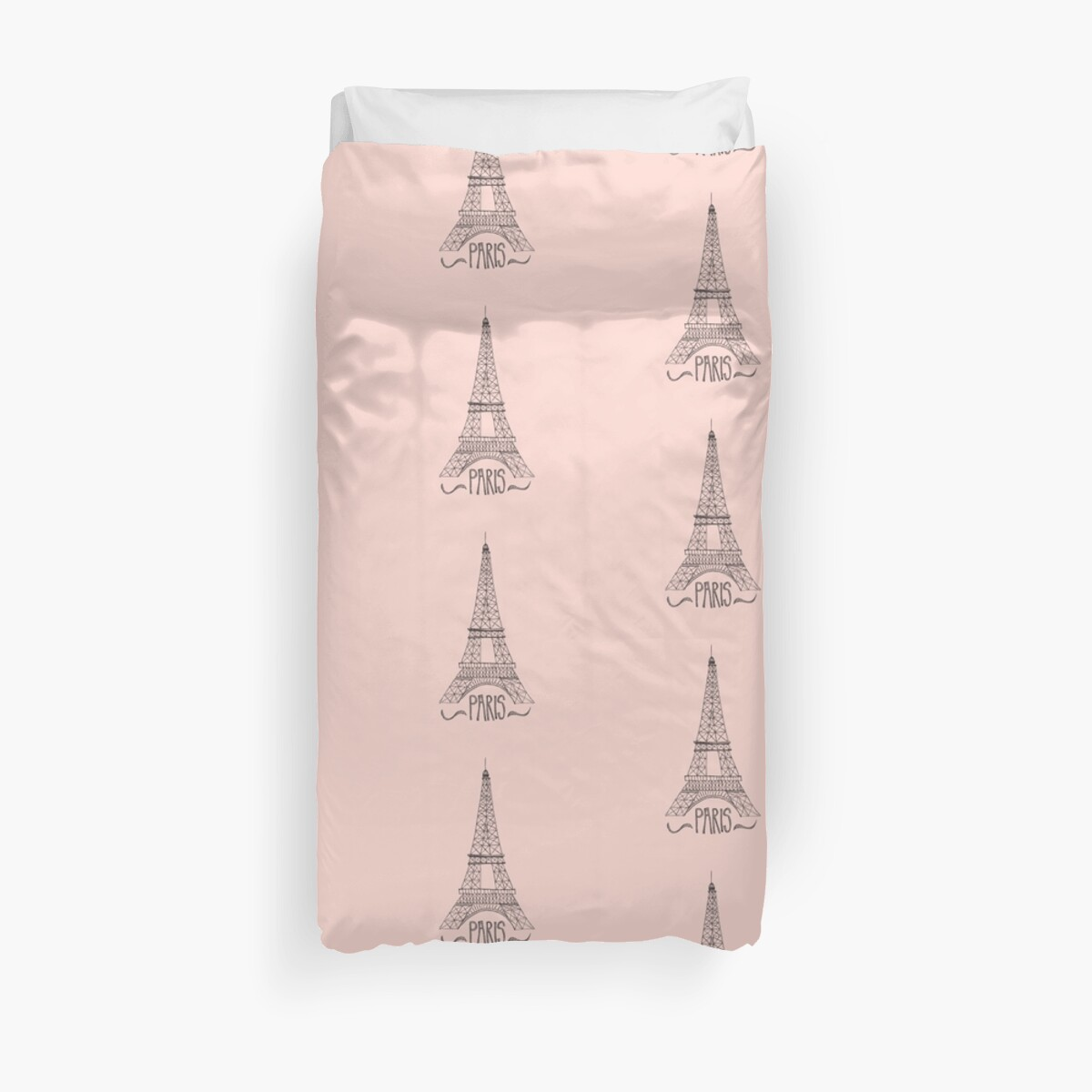 eiffel tower on pink by Stacey Oldham
